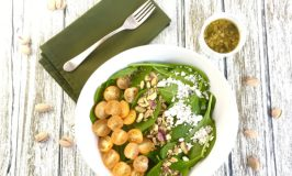 Spinach Salad with Warm Citrus Vinaigrette