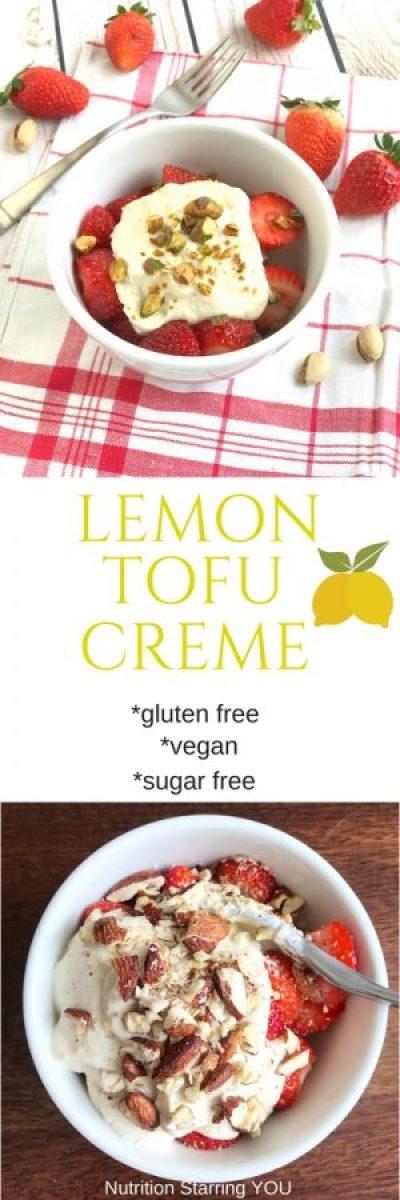 Lemon Tofu Creme - gluten free, sugar free, vegan