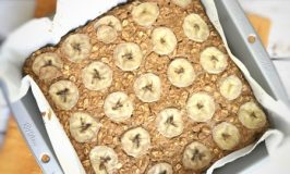 Peanut Butter Banana Protein Baked Oatmeal