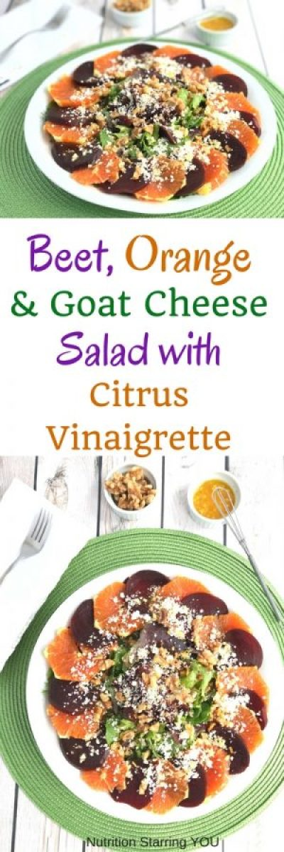 Beet, Orange and Goat Cheese Salad with Citrus Vinaigrette