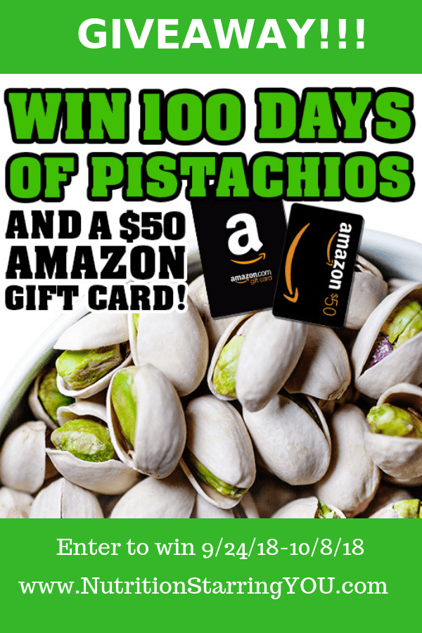 Win a $50 Amazon Gift Card and 100 Days of Pistachios