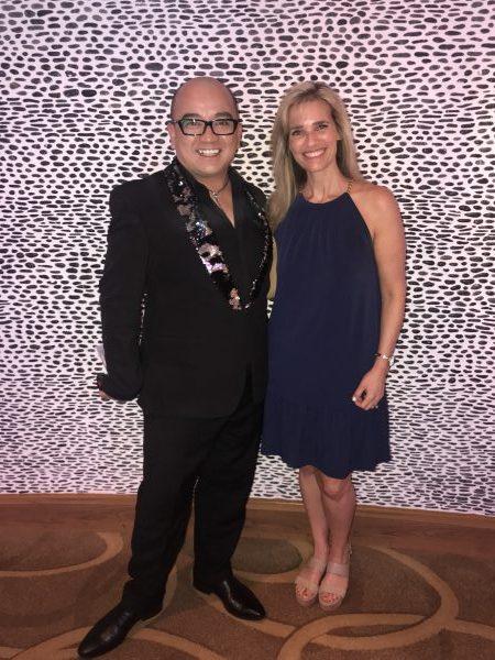 The cruise director of the Norwegian Breakaway- J.C. Sanchez