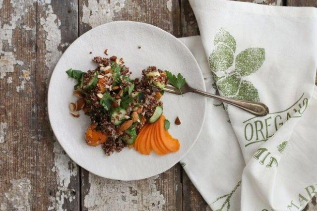 Apricot Quinoa Summer Salad eaten and enjoyed!