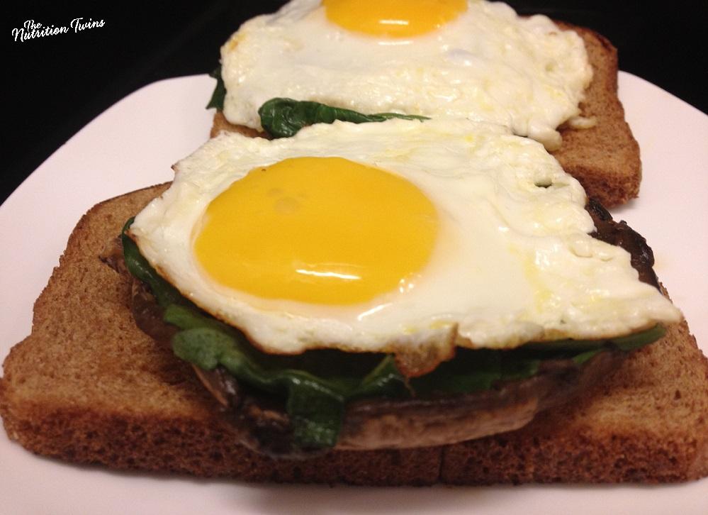 """Sunny Side Eggs on Portobello BREAD and """"bagel"""""""