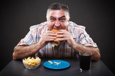 Eating unhealthy, burger