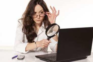 Woman investigating
