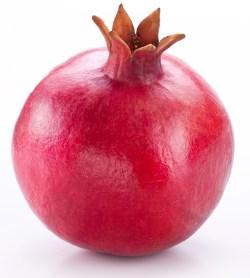Single whole pomegranate