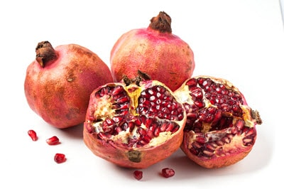 Collection of pomegranates