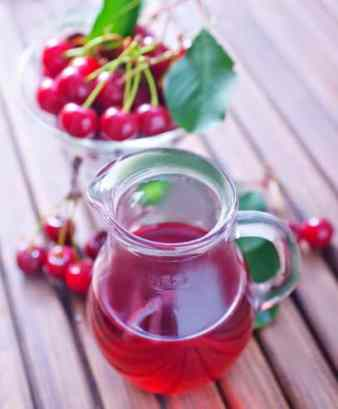 Cherry juice and pitcher