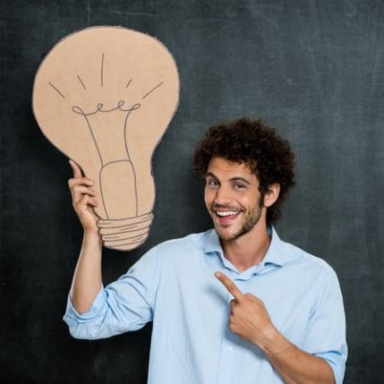 Man with a bright idea