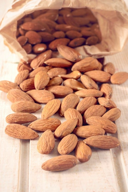 Splashed almonds