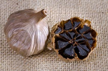 Aged black garlic