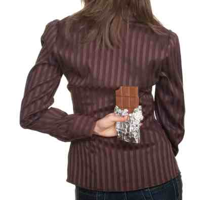 young woman with chocolate