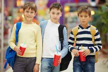 Young boys with soda
