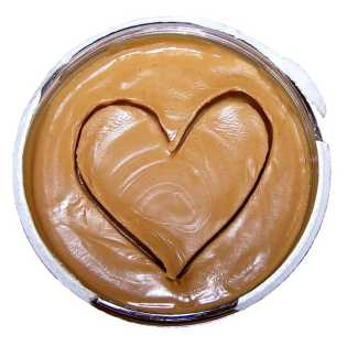 Love heart in peanut butter