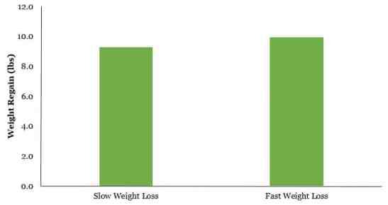 Fast versus slow weight loss