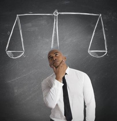 Balancing two opinions
