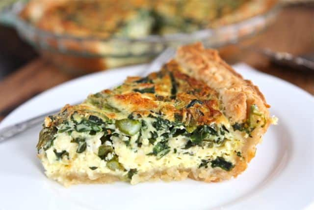 Asparagus, Spinach and Feta Quiche