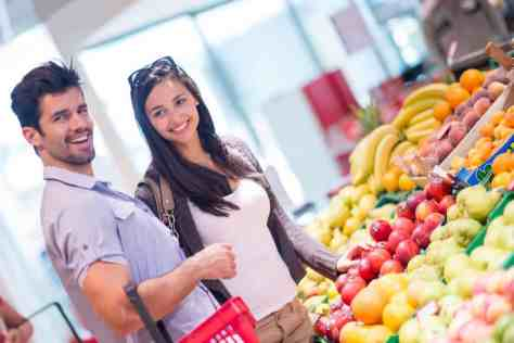 Shopping for healthy food