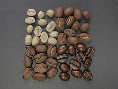 Different coffee bean roasts