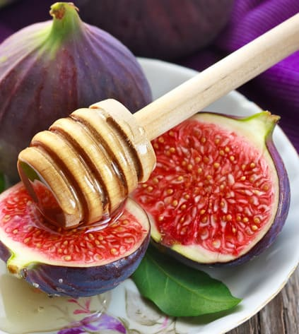 Figs and honey for dessert