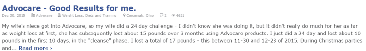 AdvoCare 24 Day Challenge Review 3