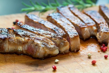 Chopped steak on a plate