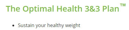 Sustain your healthy weight