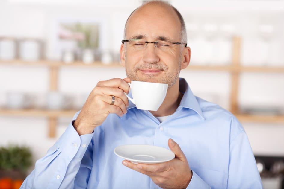 Man with tea