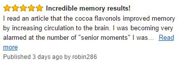 Memory results