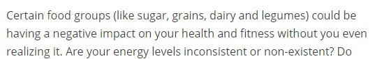 Certain foods