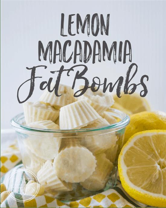 Lemon Macadamia Fat Bombs