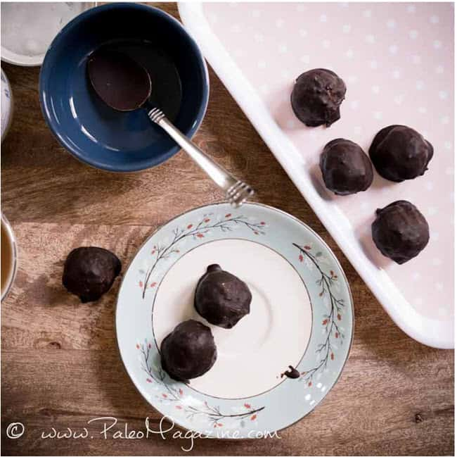 Vanilla Fat Bombs Dipped in Chocolate