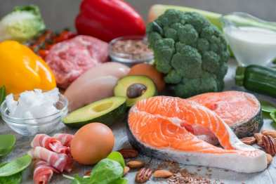 Keto food selection