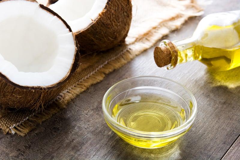 Coconut oil on a table
