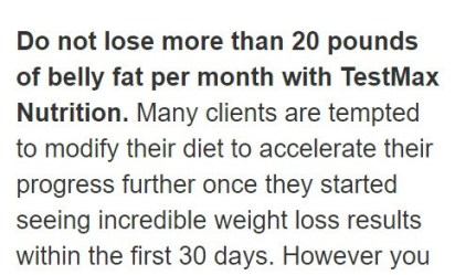 20 pounds of belly fat