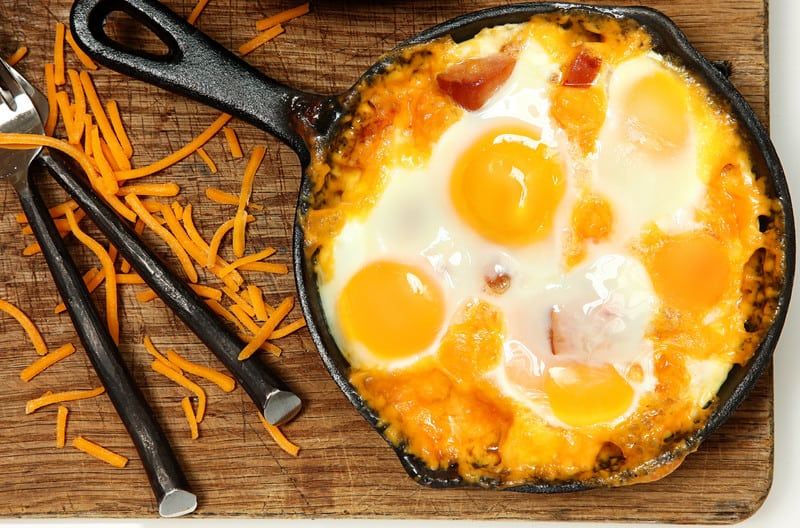 Baked Eggs and Sausage