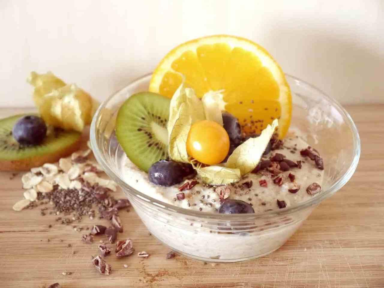 Cacao nibs on porridge