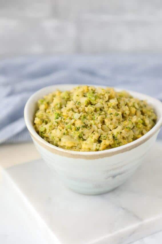 Keto Cheesy Broccoli & Cauliflower Rice