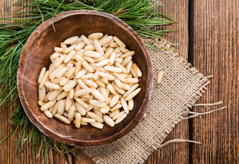 Pine Nuts on a table