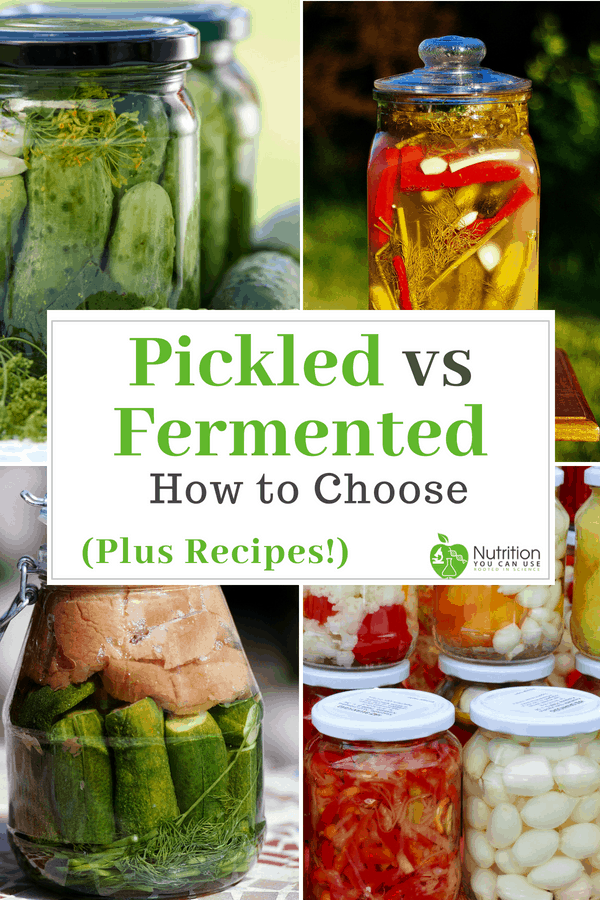 Ever wonder which was better? Pickled food or fermented food? Click through to this post to find out!