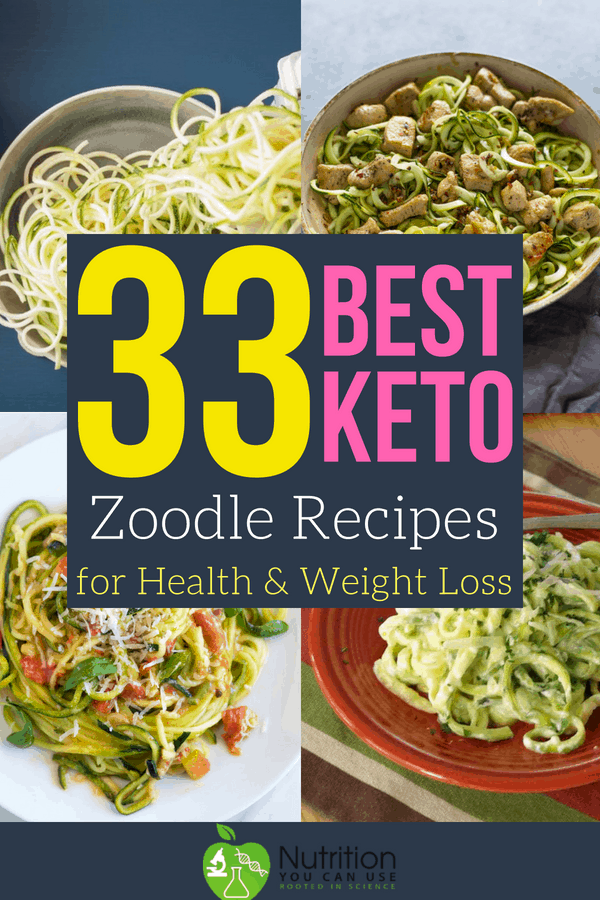 Zoodles can be great for losing weight and staying healthy. Check out the 33 best #keto zoodle recipes!