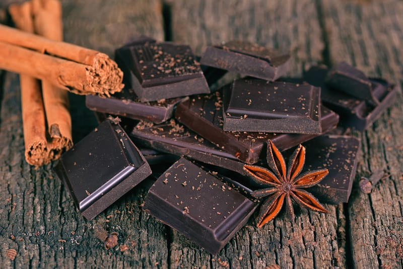 Dark chocolate and cinnamon