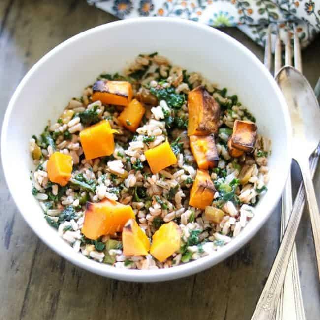 Vegan Butternut Squash Rice Bowl