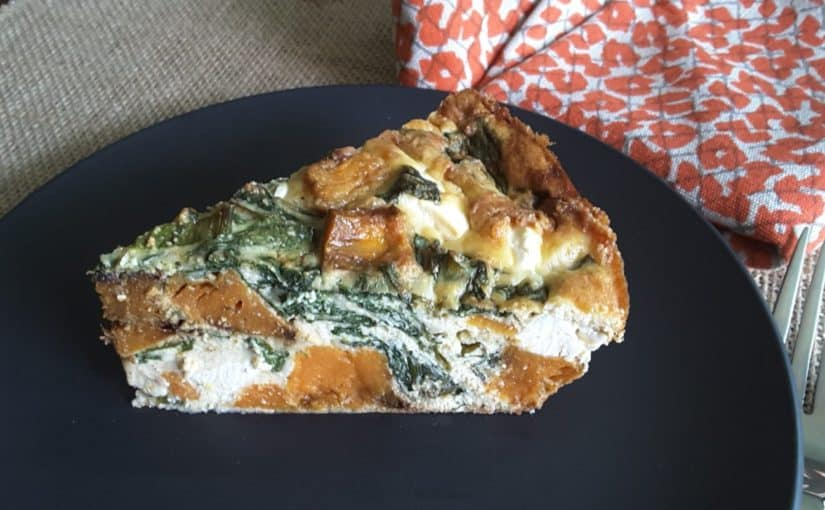 ​Roasted Pumpkin, Spinach and Feta Quiche