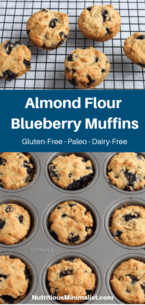 almond flour blueberry muffins pin