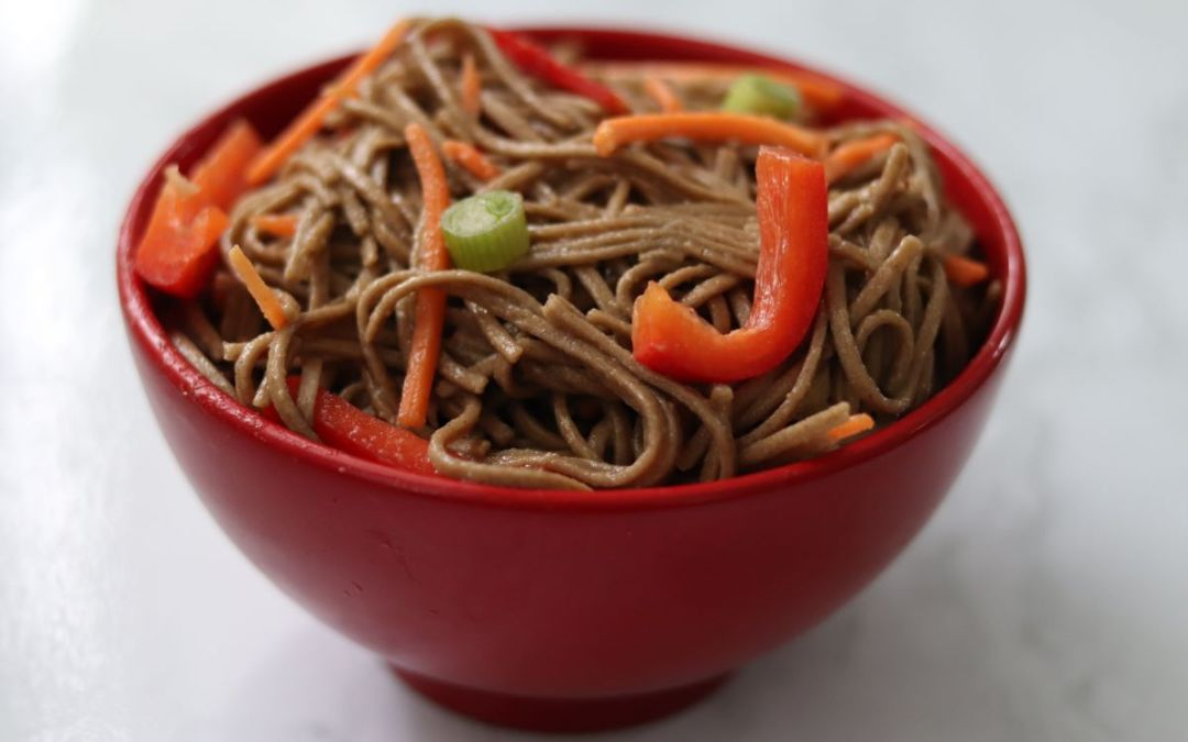 Soba Noodle Salad with Sesame Soy Dressing
