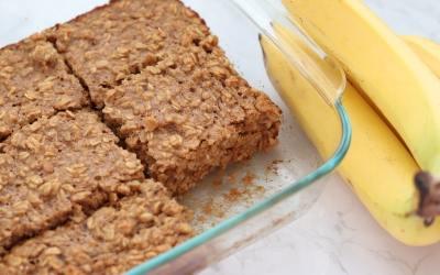 Banana Peanut Butter Baked Oatmeal Recipe