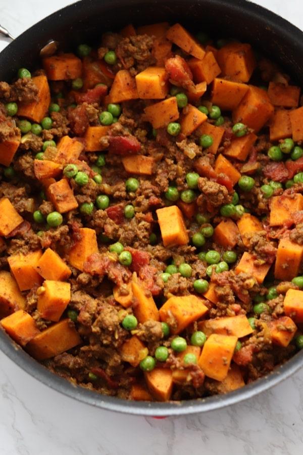 ground beef sweet potato skillet