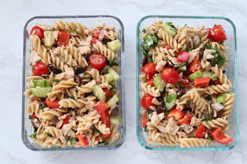 pasta in storage container